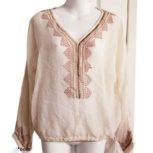 House of Harlow 1960 Embroidered Boho Top